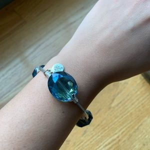 NEW Bourbon and Bowties Crystal blue Bangle